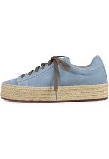 Tênis Sneaker Balaia Em Couro Camurça Mod241 Azul