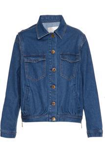 Lilly Sarti Jaqueta Jeans Com Recortes - Azul