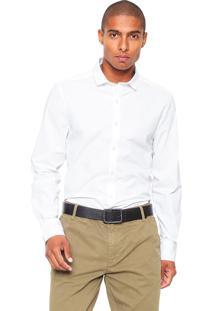 Camisa Calvin Klein Jeans Reta Branca