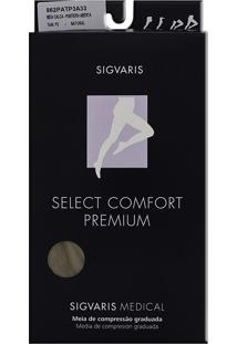 Meia Calça Sigvaris Select Comfort Premium 20-30 Mmhg P (Tamanho Pequeno) Longo, Cor Natural, Ponteira Aberta