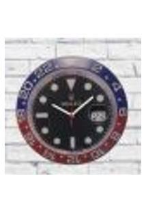Relógio Parede Sala Decorativo Personalizado Pulso 30X30X2Cm