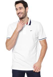 Camisa Polo Yachtsman Reta Listras Branca