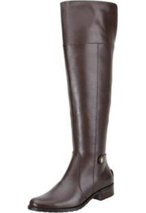 Bota Encinas Leather Montaria Over Knee Feminina - Feminino-Café