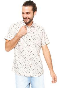 Camisa Sommer Reta Estampada Off-White