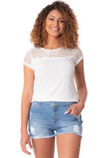 Blusa Feminina Mochine Off White - M