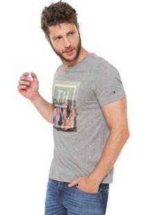 Camiseta Tommy Hilfiger Photo Cinza