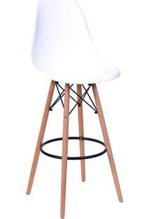 Banqueta Eames Dkr - Branca & Bege - 106X56X56Cmor Design