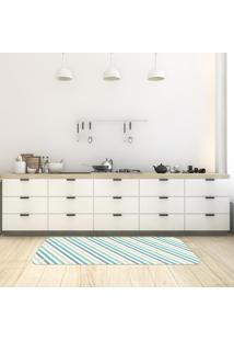 Tapete De Cozinha Mdecore Listrado Branco 40X120Cm