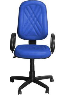 Cadeira Pethiflex Pp-02Gpbp Giratória Couro Azul