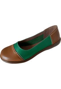 Sapatilha Scarpe Bico Redondo Verde
