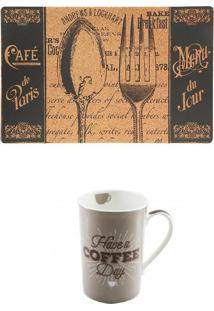 Jogo Americano Café Paris E Caneca Have A Coffee Copa E Cia