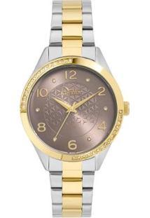 Relógio Condor Feminino Bracelete Bicolor - Co2035Kvy/5F Co2035Kvy/5F - Feminino-Prata+Dourado