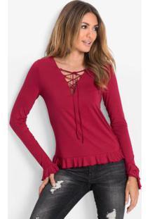 Blusa Com Amarração Vermelho