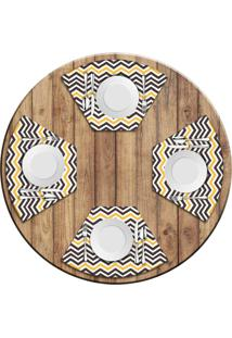 Jogo Americano Para Mesa Redonda Wevans Stripes Kit Com 6 Pçs Love Decor