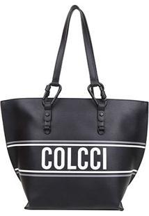 Bolsa Colcci Shopper Esportiva Feminina - Feminino-Preto