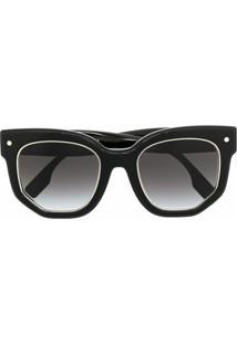 Burberry Eyewear Óculos De Sol Quadrado Degradê - Preto