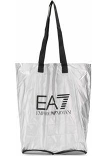 Ea7 Emporio Armani Bolsa Tote Com Logo - Cinza