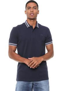 Camisa Polo Colcci Reta Frisos Azul-Marinho