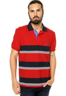 Camisa Polo Nautica Logo Vermelha