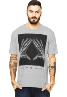 Camiseta Volcom Xrayz Cinza
