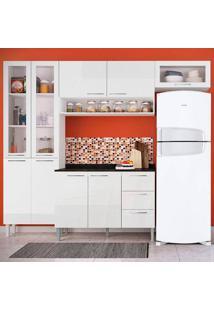 Cozinha Heloisa 0425T 9 Portas C/ Tampo – Genialflex - Branco