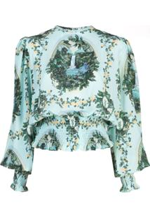 Fete Imperiale Blusa De Seda Boldini - Azul