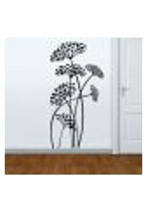 Adesivo De Parede Floral 37 - P 79X40Cm