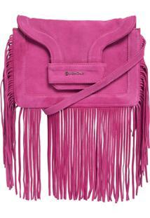 Bolsa Dumond Pequena Camurça Rosa