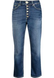 Dondup Calça Jeans Cropped Cintura Média - Azul