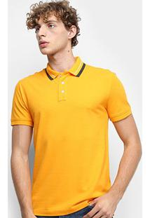 Camisa Polo Tommy Jeans Classics Stretch Masculina - Masculino-Amarelo