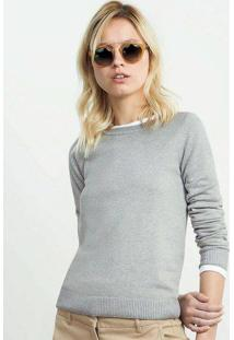Blusão Feminino Básico Em Tricô E Modelagem Slim