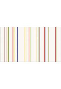 Papel De Parede Listrado Infantil Colorido 52Cm X 10M Vinílico Revex