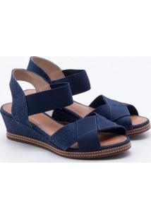 affd1fe397 ... Sandália Anabela Via Scarpa Jeans Azul 36