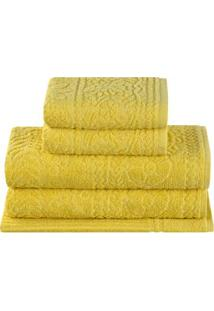 Jogo De Toalha Para Banho Buddemeyer Caravana Em Algodão Com 5 Peças – Amarelo