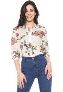 Camisa Facinelli By Mooncity Floral Off-White