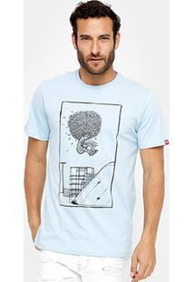 Camiseta Element Pushin Tree Ollie Masculina - Masculino