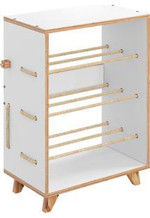 Sapateira Cordel – Be Mobiliário - Branco
