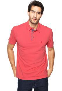 Camisa Polo Polo Wear Reta Coral