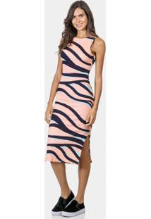 829a4b19dd ... Vestido Mídi Estampado Em Malha Zebra - Lez A Lez