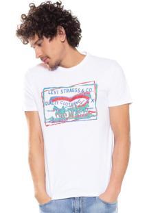 Camiseta Levis Logo 2 Horse Color Branca