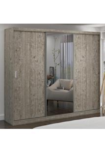 Guarda-Roupa Casal 3 Portas Com 1 Espelho 100% Mdf 1905E1 Demolição - Foscarini