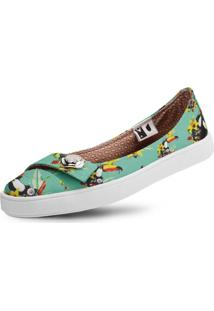 Sapatilha Usthemp Womanly Vegano Casual Tropical South Verde