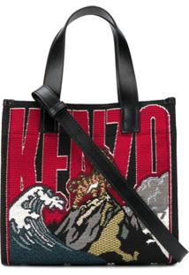 Kenzo Jungle Tiger Mountain Embroidered Tote Bag - Vermelho