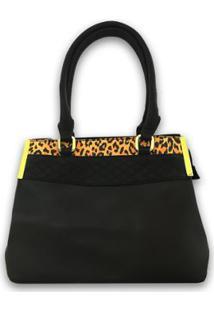 Bolsa Casual Sys Fashion 8527 Feminina - Feminino-Preto
