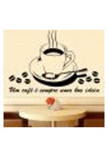 Adesivo De Parede Café Uma Boa Ideia - Eg 98X70Cm