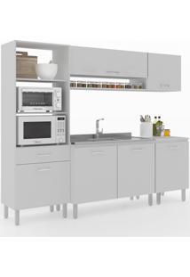 Cozinha Compacta Uccelli 6 Portas 1 Gaveta 600072 Gris - Vedere