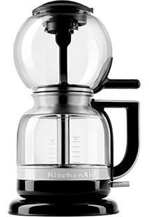 Cafeteira Elétrica Kitchenaid De Sifão Automática 110V Onyx Black 1,18 Litros Com Base Giratória