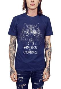Camiseta Hshop Stark Winter Is Coming Azul