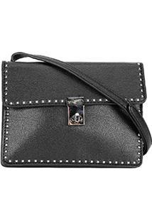 Bolsa Santa Lolla Mini Bag Rebites Feminina - Feminino-Preto