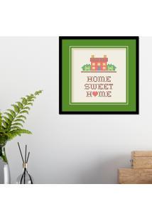 Quadro Pump Up Emoldurado Home Sweet Home Preta